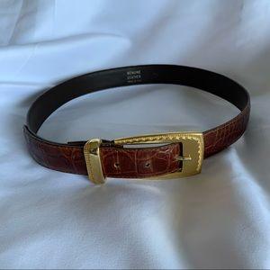 Italian Brown Leather Belt